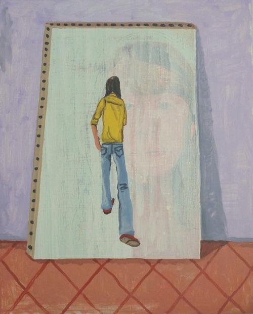 Interiors (Passing through), 2013. Oil on Linen, Courtesy of Corvi-Mora, London