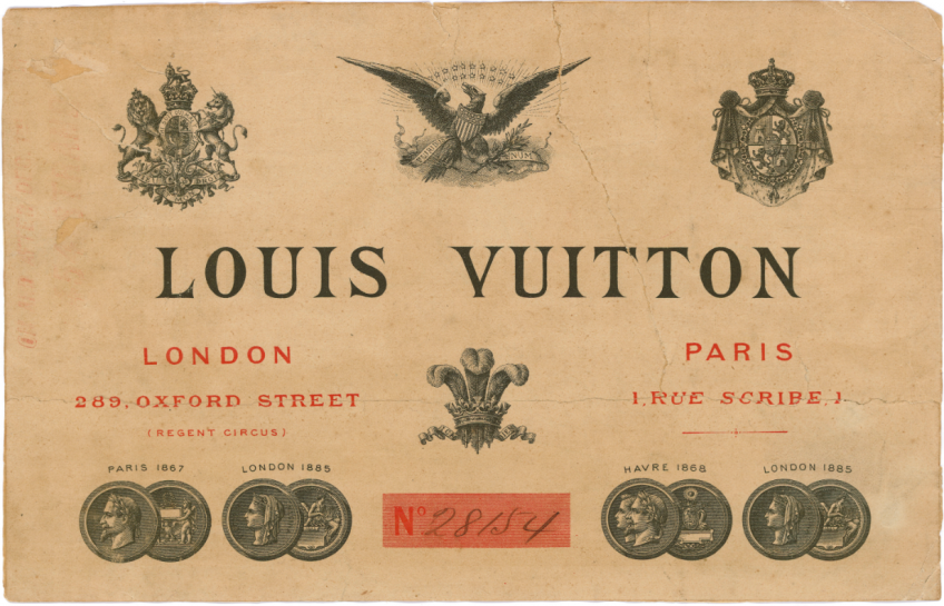 The first Louis Vuitton catalogue recorded in their archives for London and Paris, © Louis Vuitton Archives