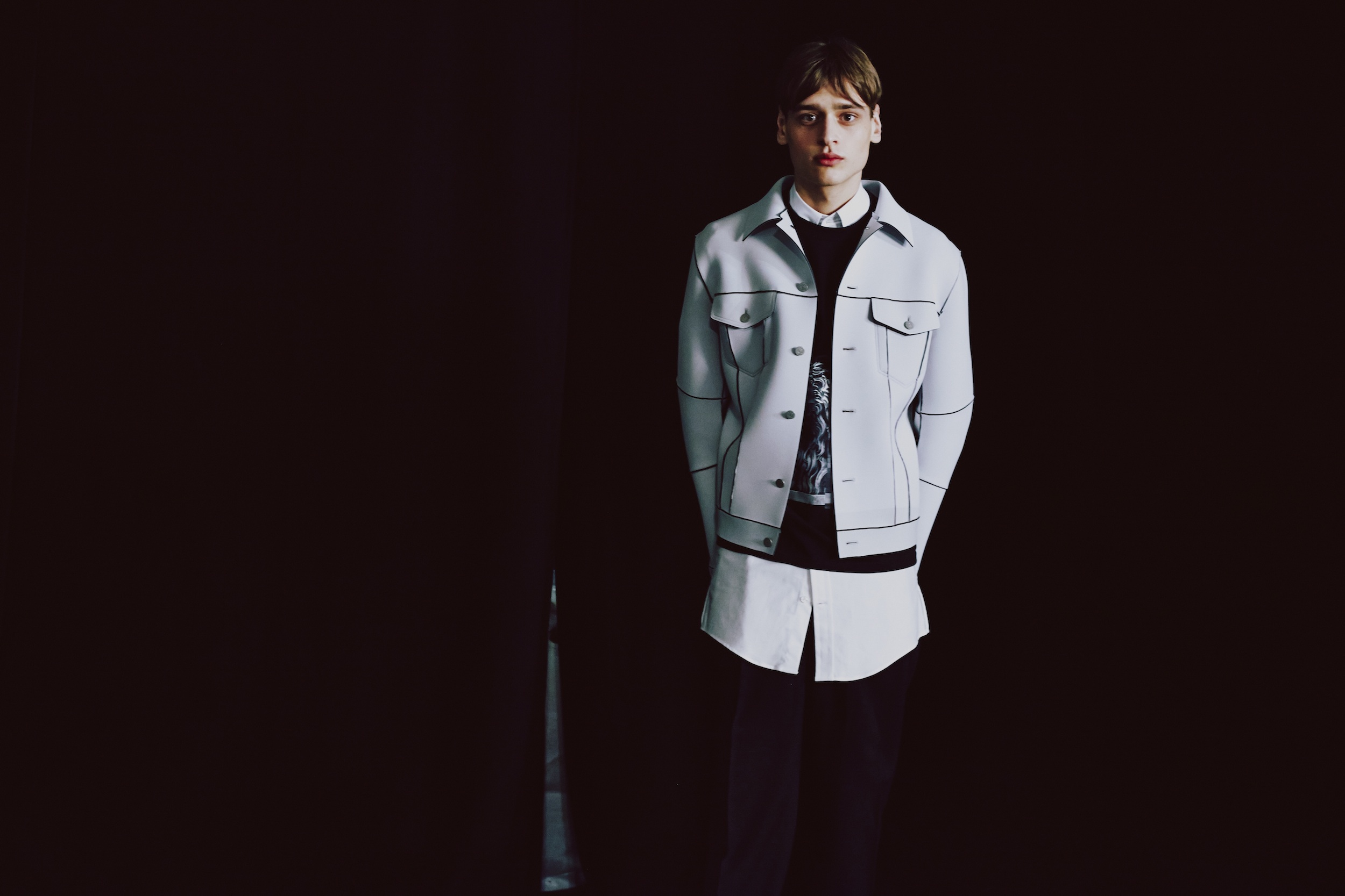 1 LCM AW14 HERO MAGAZINE CASLEY HAYFORD BACKSTAGE HARRY CARR FW14 Look