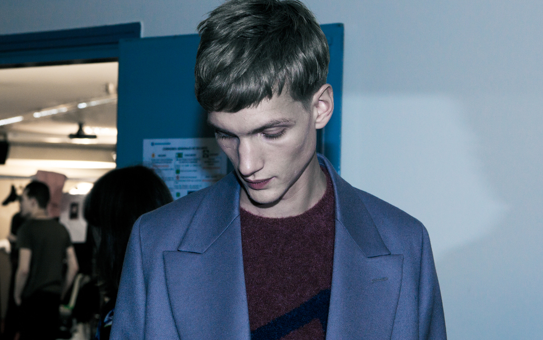22 LCM AW14 HERO MAGAZINE Alexandre Sallé de Chou PAUL SMITH BACKSTAGE FW14 CATWAL LOOK