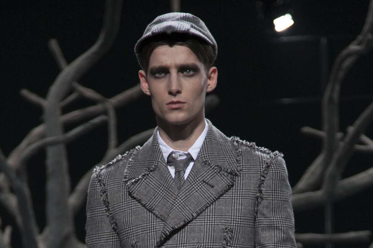 28 LCM AW14 HERO MAGAZINE THOM BROWNE FW14 CATWAL LOOK