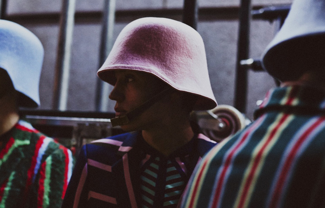 28 LCM AW14 HERO MAGAZINE WALTER VAN BEIRENDONCK BACKSTAGE HARRY CARR FW14 Look