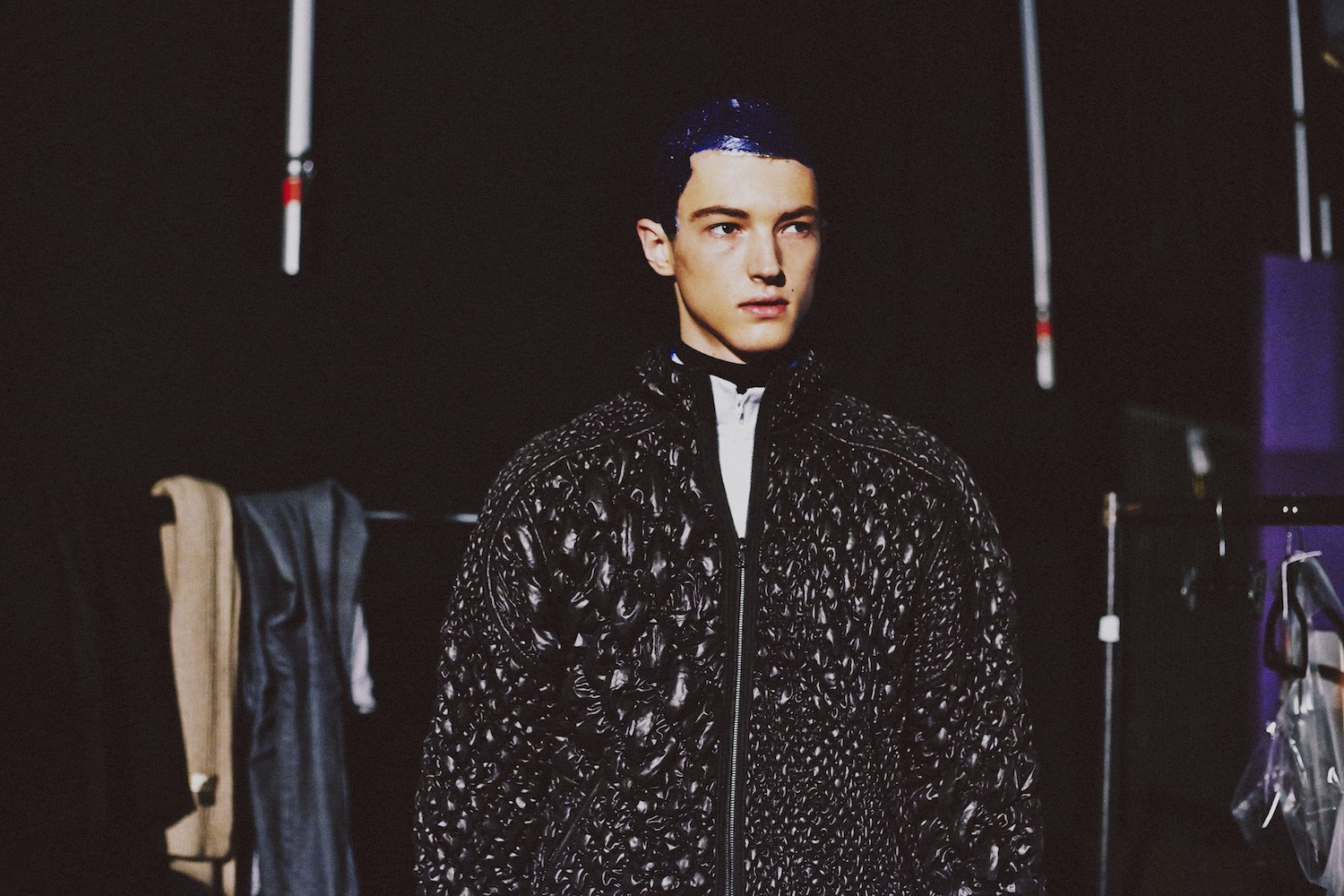 9 LCM AW14 HERO MAGAZINE JAMES LONG BACKSTAGE  HARRY CARR FW14 Look