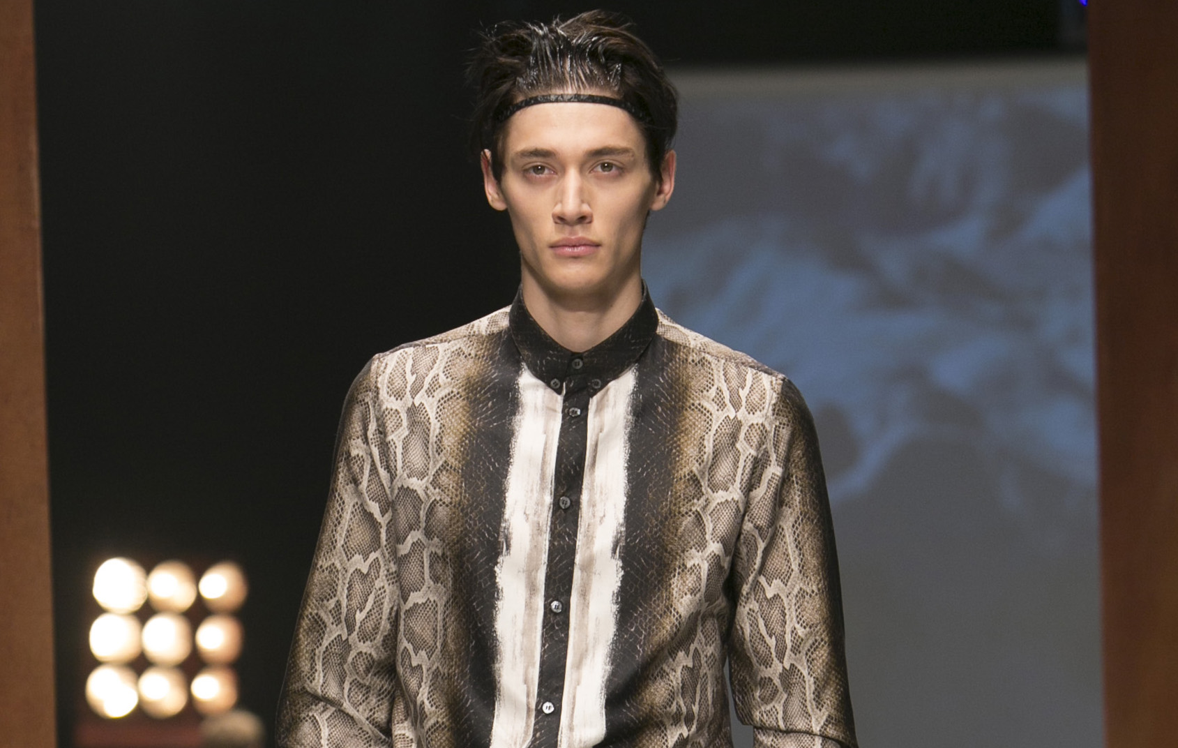 Roberto Cavalli Fashion Show Menswear Collection Fall Winter 2014 Milan