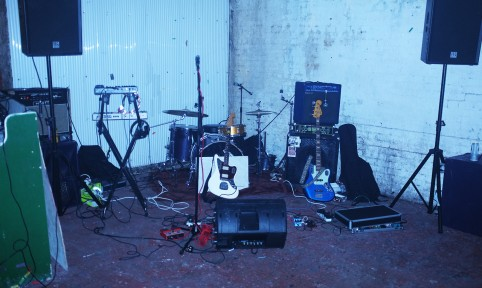 Whistlejacket set-up, from a gig under the railway arches in Bethnal Green