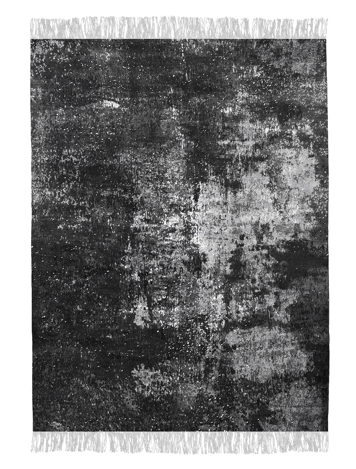 Calle Henzel / Diamond Dust - Nordic Raw, 'Norrhuit Diamond Dust Night Sky', 2013. Hand-knotted rug, Himalayan wool and silk. Courtesy of Henzel Studio