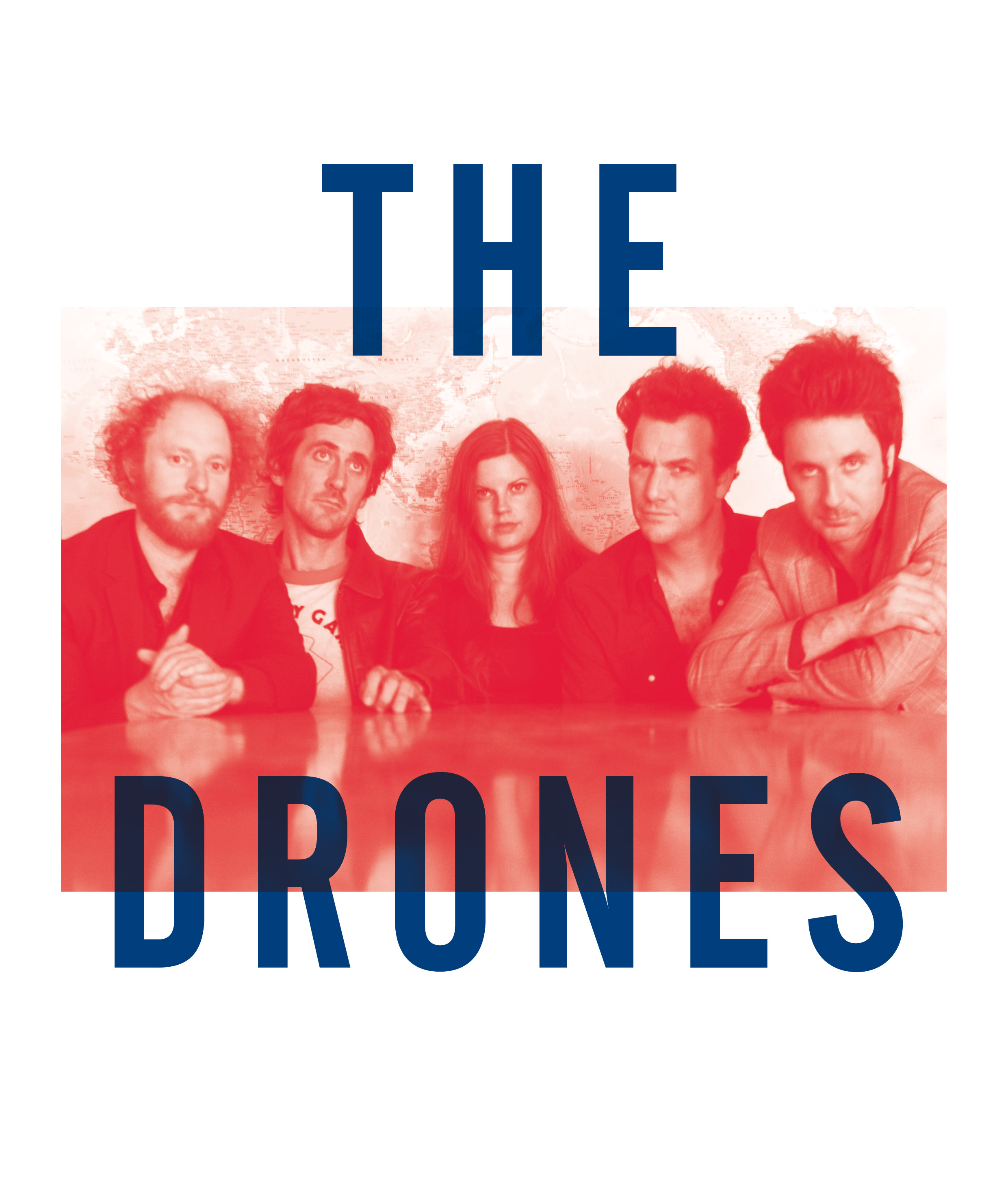 The Drones, from 'Noise In My Head: Voices From The Ugly Australian Underground' 2014. Image courtesy Melbourne Books