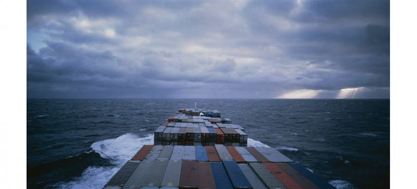 Allan Sekula, 'Panorama. Mid Atlantic. Voyage 167 of the container ship M/V Sea-Land Quality from Elizabeth, New Jersey to Rotterdam', November 1993