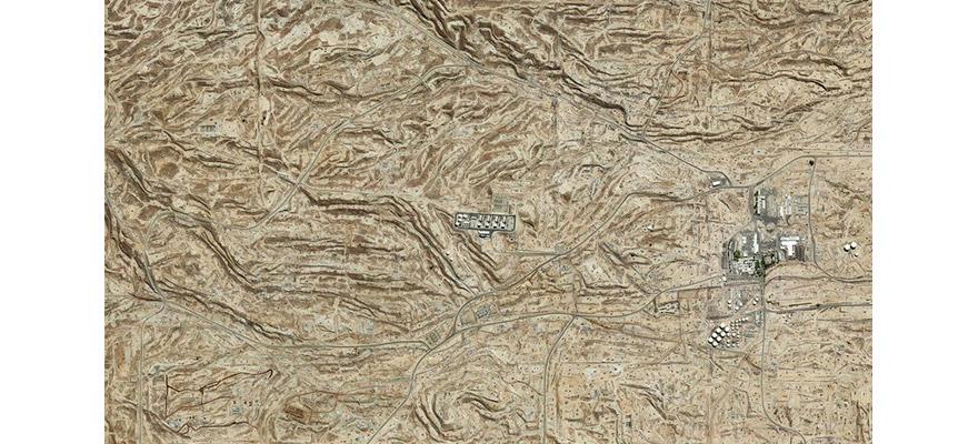Mishka Henner 'Kern River Oil Field', 2013. Kern County, California, United States