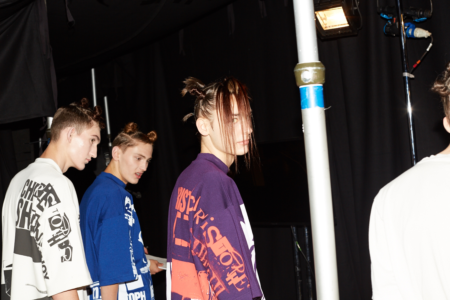 HERO MAGAZINE SS15 LONDON CATWALK CHRIS SHANNON BACKSTAGE JAMES NAYLOR 4T8A2153