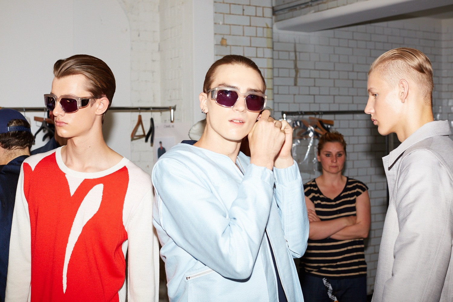 HERO MAGAZINE SS15 LONDON CATWALK LOU DALTON BACKSTAGE JAMES NAYLOR 4T8A1057