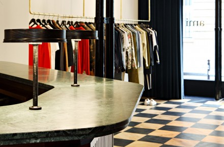 The new Boutique AMI at Boutique AMI, 22 rue de Grenelle, Paris. Photo Yann Deret