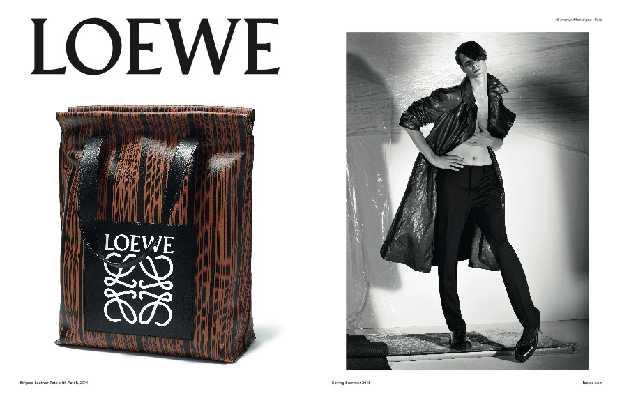 Loewe SS15 campaign. Creative direction M/M Paris, photography Steven Meisel 1997-2015 (right) and Erwan Frotin (left)