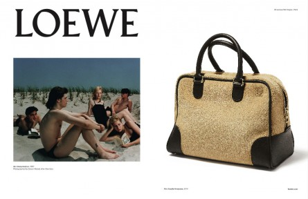 Loewe SS15 campaign. Creative direction M/M Paris, photography  Steven Meisel 1997-2015 (left) and Erwan Frotin (right)