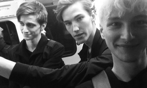 Tube selfie - Valters, Kristoffer and Benjamin en route to the DKNY SS15 show