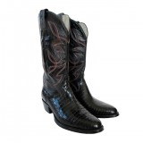 HERO CONSUME ALLIGATOR COWBOY BOOTS WITH EMBROIDERY (c1980-2000)