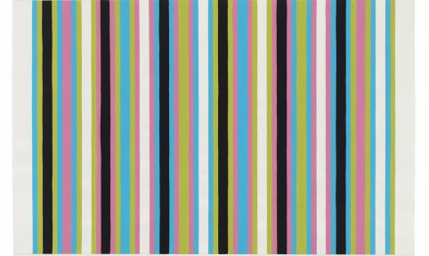 Bridget Riley, Untitled [Related to 'Clandestine' and 'Cantus Firmus'], 1972-1973, courtesy of David Zwirner