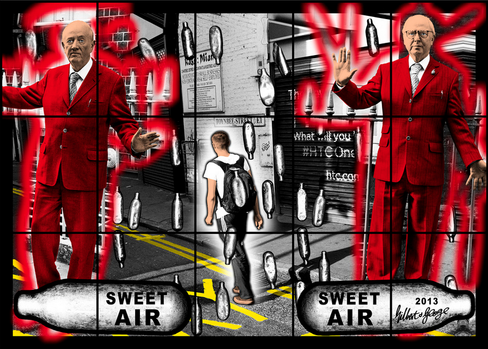 Gilbert & George, Sweet Air Sweet Air, 2013, courtesy of White Cube