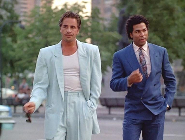 The 'T-Shirt under Armani' look in Miami Vice Season 2 (1985)