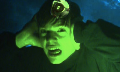 Still from the video for Ooops by 808 State feat. Björk