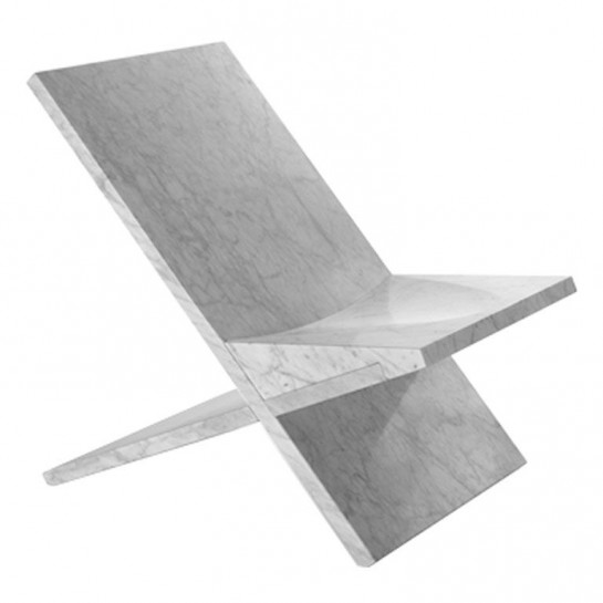 HERO CONSUME SULTAN RECLINED CARRARA MARBLE CHAIR BY KONSTANTIN GRCIC FOR MARSOTTO EDIZIONI (c21st Century)