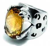 HERO CONSUME THE GREAT FROG CITRINE LEOPARD RING