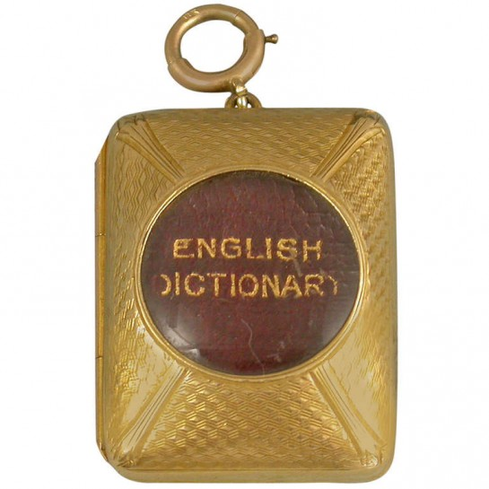 HERO CONSUME THE SMALLEST ENGLISH DICTIONARY IN THE WORLD (c1890)