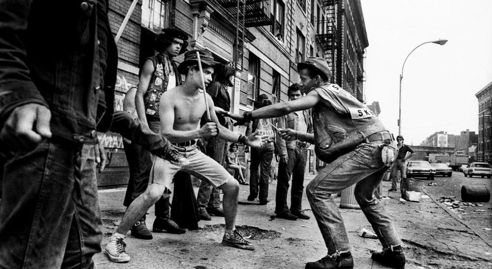 The Bronx, New York, 20th July, 1972. Members of the gang Savage Skulls declare war on drug dealers in the area.  From Photographer's Paradise by Jean-Pierre Laffont, © 2014, published by Glitterati Incorporated