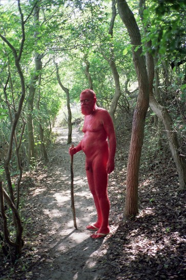 AA Bronson and Ryan Brewer, 'Red', 2011. Ektachrome print. Image courtesy Esther Schipper Gallery, Berlin