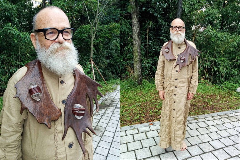 Ceremonial Robe for AA Bronson's House of Shame, Gwangju Biennale, 2014. Performance by AA Bronson, robe designed and created by Mark Krayenhoff van de Leur. Image courtesy AA Bronson