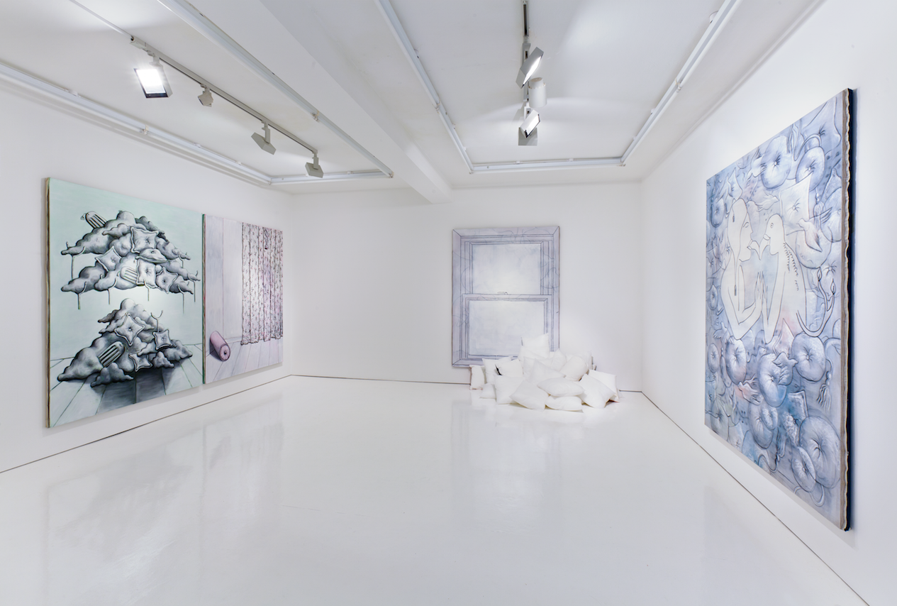 Patrizio Di Massimo 'Soft Corners Lining White',2014, installation view, Rowing, London. Photo: Matthew Booth. Courtesy Rowing Projects
