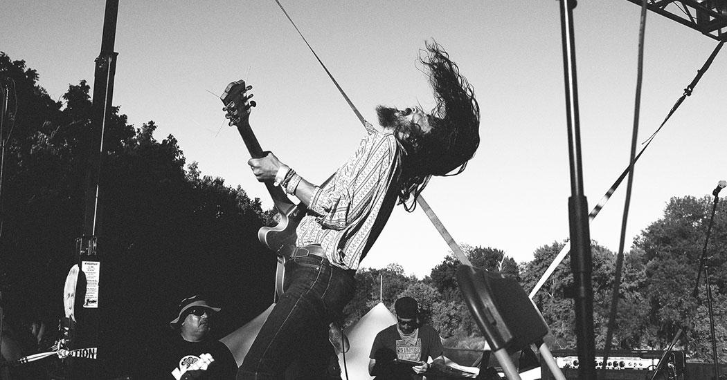 Kikagaku Moyo at Austin Psych Fest 2014. Photography Jamie Wdziekonski