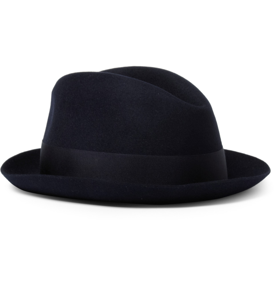 HERO CONSUME BORSALINO RABBIT-FELT FEDORA
