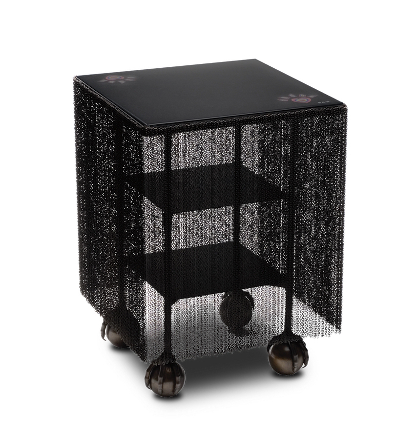 HERO CONSUME SOLANGE AZAGURY-PARTRIDGE BALLCRUSHER FRINGED TABLE