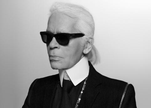 Karl Lagerfeld self portrait