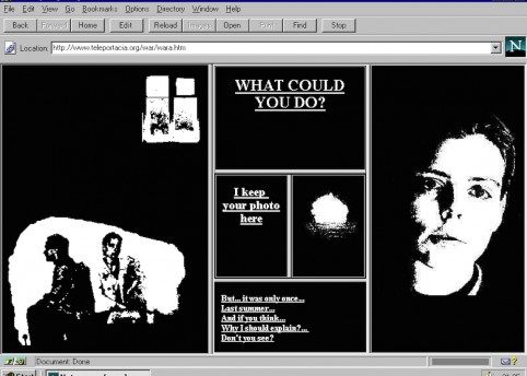 Olia Lialina: 'My Boyfriend Came Back from the War'; 1996; Net Art: screenshot; courtesy of the artist; © Olia Lialina.