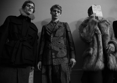 Dries Van Noten FW16 backstage. Photography Raffaelle Cariou