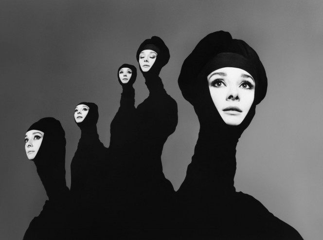 Richard Avedon 'Audrey Hepburn', actress, New York, January 20, 1967. Photograph by Richard Avedon © The Richard Avedon Foundation