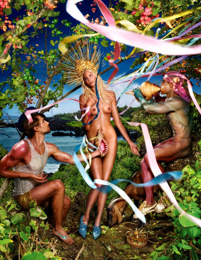 David LaChapelle's Rebirth of Venus (2009). Photograph- David LaChappelle:Victoria and Albert Museum London