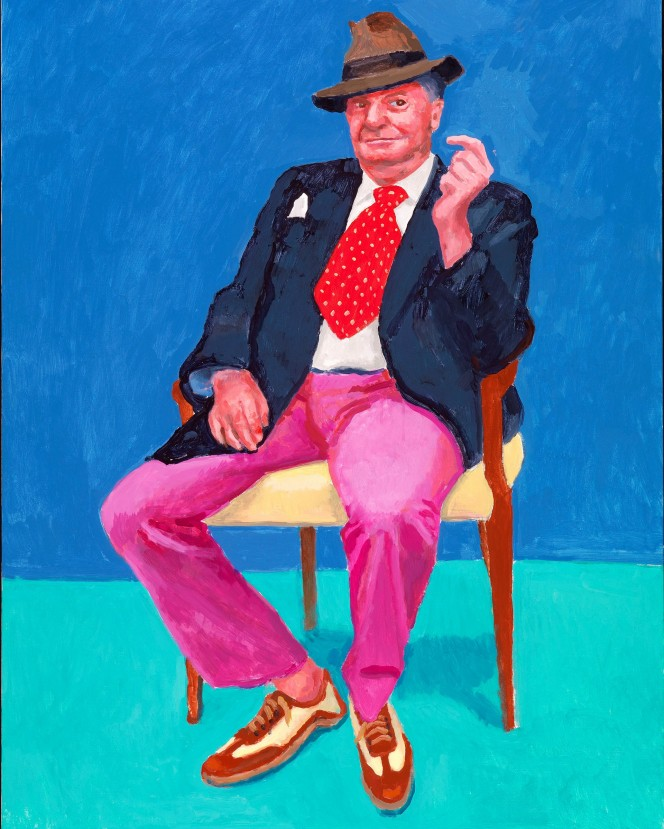 Barry Humphries, 26-28 March by David Hockney. Photograph- Richard Schmidt:Royal Academy