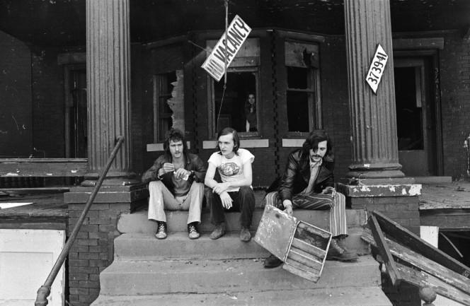 Barry Kramer, Dave Marsh, and Lester Bangs. Photo by Charles Auringer.