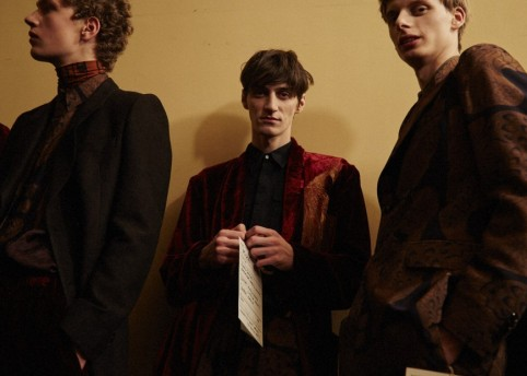 Backstage at Dries Van Noten FW16 menswear. Photography Raffaele Cariou.