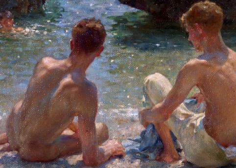'The Critics' (1927) Henry Scott Tuke Oil on board Courtesy of Warwick District Council (Leamington Spa, UK)