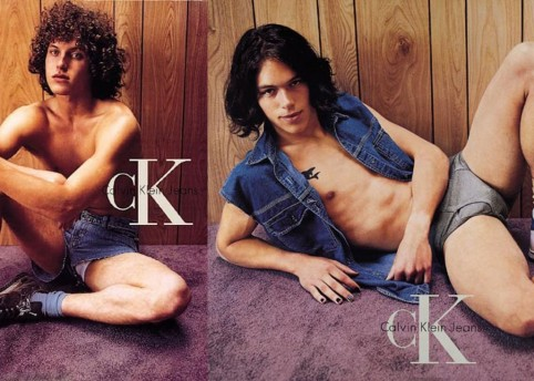 Calvin Klein's 1995 campaign shot by Steven Meisel was criticised for images of young models in sexually provocative poses.