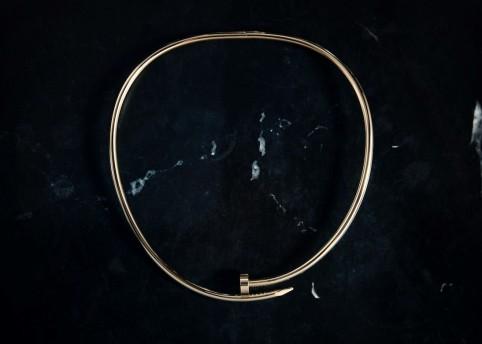 Juste un Clou torque necklace, small model, yellow gold. © Cartier