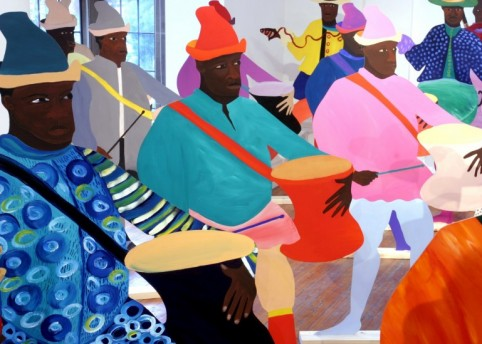 Lubaina Himid, 'Naming The Money – Drummers and Dancers' © Lubaina Himid