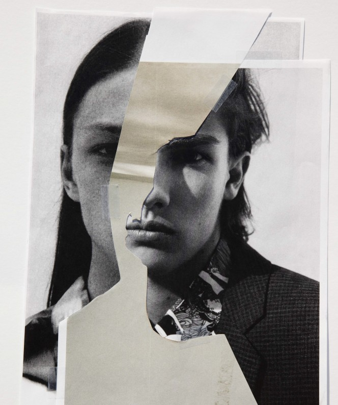 Saint Laurent collage in The HERO Winter Annual