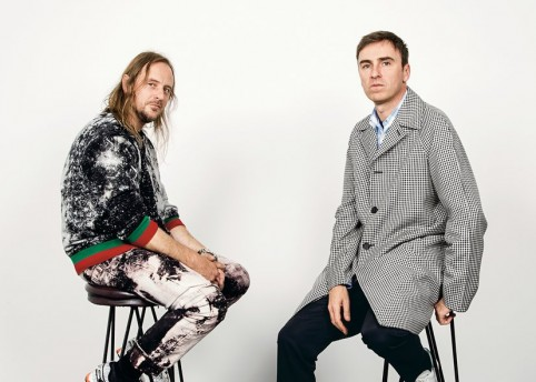 Raf Simons and Sterling Ruby at Hauser & Wirth Gallery in New York by Stefan Ruiz