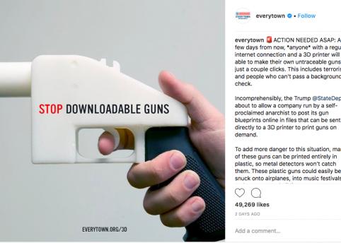 3-d gun printing