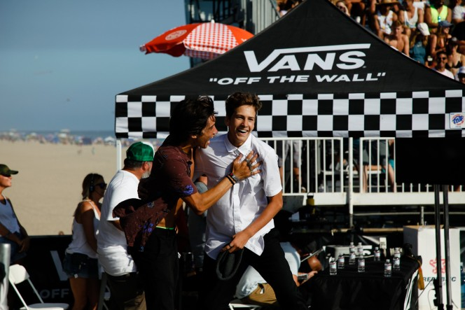 Heimana Reynolds (left) and Jagger Eaton (right) / Huntington Beach, CA. Vans Park Series finals